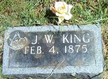 KING, J. W. - Boone County, Arkansas | J. W. KING - Arkansas Gravestone Photos