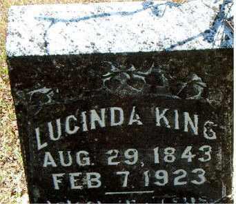 KING, LUCINDA - Boone County, Arkansas | LUCINDA KING - Arkansas Gravestone Photos
