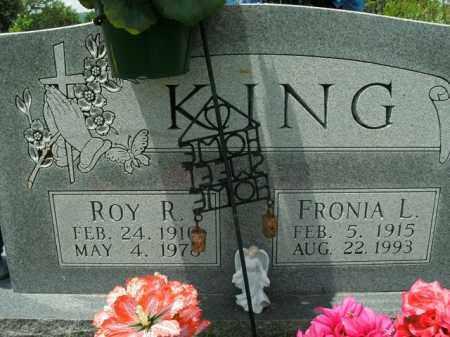 KING, FRONIA L. - Boone County, Arkansas | FRONIA L. KING - Arkansas Gravestone Photos