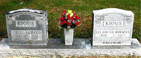 KIOUS, CECIL EDWARD - Boone County, Arkansas | CECIL EDWARD KIOUS - Arkansas Gravestone Photos