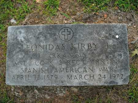 KIRBY, JR  (VETERAN SAW), LEONIDAS - Boone County, Arkansas | LEONIDAS KIRBY, JR  (VETERAN SAW) - Arkansas Gravestone Photos