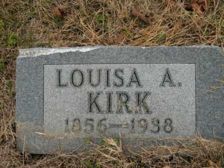 KIRK, LOUISA A. - Boone County, Arkansas   LOUISA A. KIRK - Arkansas Gravestone Photos