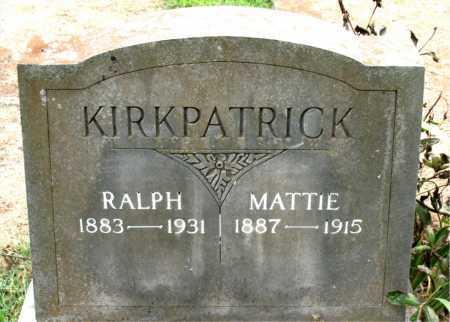 KIRKPATRICK, MATTIE - Boone County, Arkansas   MATTIE KIRKPATRICK - Arkansas Gravestone Photos