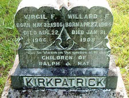 KIRKPATRICK, WILLARD F. - Boone County, Arkansas | WILLARD F. KIRKPATRICK - Arkansas Gravestone Photos
