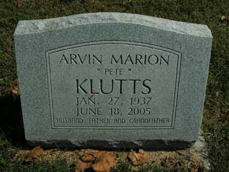 KLUTTS, ARVIN MARION - Boone County, Arkansas | ARVIN MARION KLUTTS - Arkansas Gravestone Photos