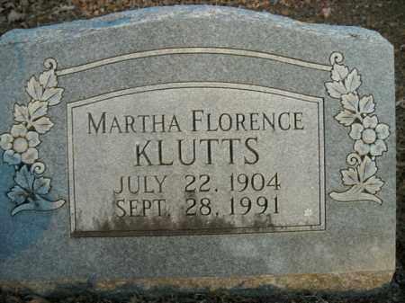 KLUTTS, MARTHA FLORENCE - Boone County, Arkansas | MARTHA FLORENCE KLUTTS - Arkansas Gravestone Photos