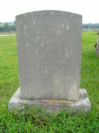 KNOX, ALICE V. - Boone County, Arkansas | ALICE V. KNOX - Arkansas Gravestone Photos