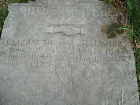 KNOX, ELIZABETH - Boone County, Arkansas | ELIZABETH KNOX - Arkansas Gravestone Photos