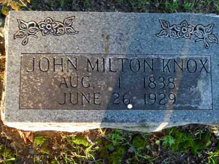 KNOX, JOHN MILTON - Boone County, Arkansas | JOHN MILTON KNOX - Arkansas Gravestone Photos