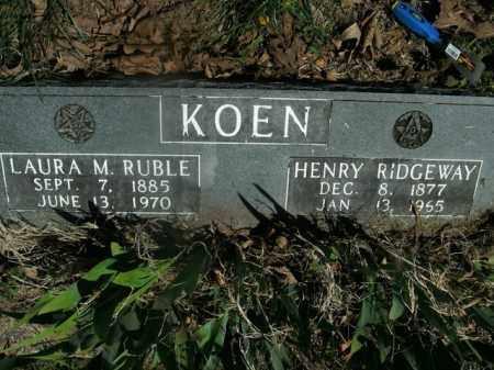 RUBLE KOEN, LAURA M. - Boone County, Arkansas | LAURA M. RUBLE KOEN - Arkansas Gravestone Photos