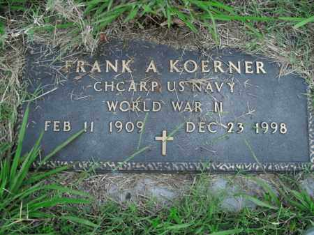 KOERNER  (VETERAN WWII), FRANK A. - Boone County, Arkansas | FRANK A. KOERNER  (VETERAN WWII) - Arkansas Gravestone Photos