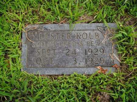 KOLB, LESTER - Boone County, Arkansas   LESTER KOLB - Arkansas Gravestone Photos