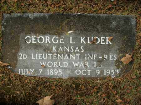 KUDER  (VETERAN WWI), GEORGE L - Boone County, Arkansas | GEORGE L KUDER  (VETERAN WWI) - Arkansas Gravestone Photos
