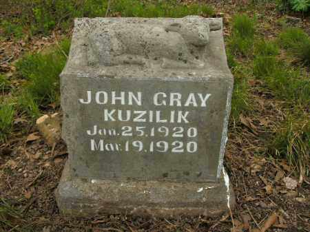 KUZILIK, JOHN GRAY - Boone County, Arkansas | JOHN GRAY KUZILIK - Arkansas Gravestone Photos