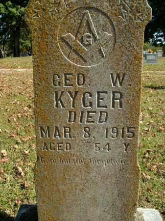KYGER, GEORGE W. - Boone County, Arkansas   GEORGE W. KYGER - Arkansas Gravestone Photos