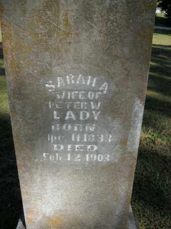 LADY, SARAH A. - Boone County, Arkansas | SARAH A. LADY - Arkansas Gravestone Photos