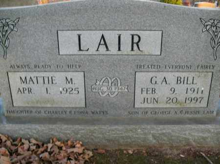 "LAIR, GEORGE ALONZO ""BILL"" - Boone County, Arkansas | GEORGE ALONZO ""BILL"" LAIR - Arkansas Gravestone Photos"
