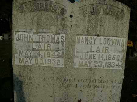 LAIR, NANCY LOUVINA - Boone County, Arkansas | NANCY LOUVINA LAIR - Arkansas Gravestone Photos