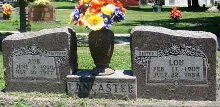 LANCASTER, AUB - Boone County, Arkansas   AUB LANCASTER - Arkansas Gravestone Photos