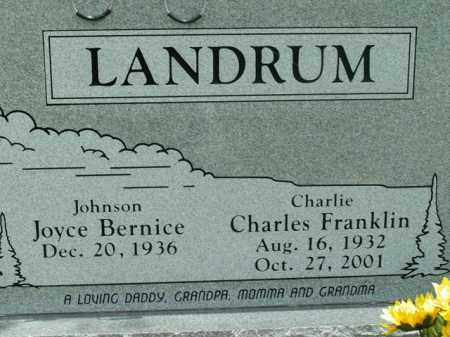 LANDRUM, CHARLES FRANKLIN - Boone County, Arkansas   CHARLES FRANKLIN LANDRUM - Arkansas Gravestone Photos