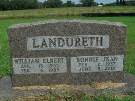 LANDURETH  (VETERAN KOR), WILLIAM ELBERT - Boone County, Arkansas | WILLIAM ELBERT LANDURETH  (VETERAN KOR) - Arkansas Gravestone Photos