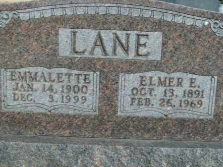 LANE, ELMER E. - Boone County, Arkansas | ELMER E. LANE - Arkansas Gravestone Photos