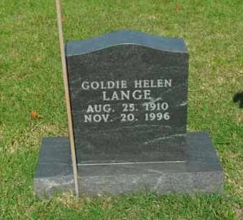 LANGE, GOLDIE HELEN - Boone County, Arkansas | GOLDIE HELEN LANGE - Arkansas Gravestone Photos