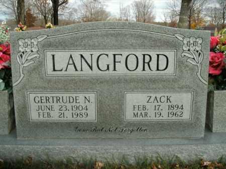 LANGFORD  (VETERAN WWI), ZACK - Boone County, Arkansas | ZACK LANGFORD  (VETERAN WWI) - Arkansas Gravestone Photos