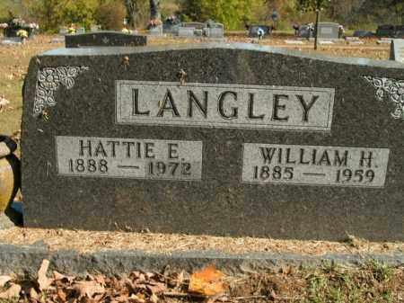 LANGLEY, HATTIE E. - Boone County, Arkansas | HATTIE E. LANGLEY - Arkansas Gravestone Photos