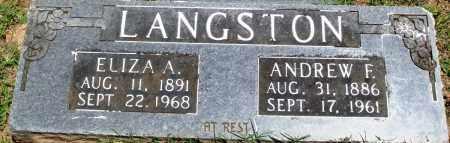 LANGSTON, ELIZA A - Boone County, Arkansas | ELIZA A LANGSTON - Arkansas Gravestone Photos