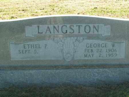 LANGSTON, GEORGE W. - Boone County, Arkansas   GEORGE W. LANGSTON - Arkansas Gravestone Photos