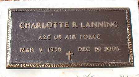 LANNING  (VETERAN), CHARLOTTE  R - Boone County, Arkansas   CHARLOTTE  R LANNING  (VETERAN) - Arkansas Gravestone Photos