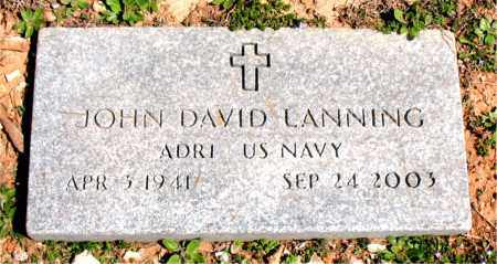 LANNING  (VETERAN), JOHN DAVID - Boone County, Arkansas | JOHN DAVID LANNING  (VETERAN) - Arkansas Gravestone Photos