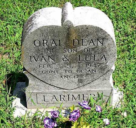 LARIMER, ORAL DEAN - Boone County, Arkansas | ORAL DEAN LARIMER - Arkansas Gravestone Photos