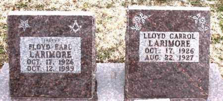 LARIMORE, FLOYD EARL - Boone County, Arkansas | FLOYD EARL LARIMORE - Arkansas Gravestone Photos