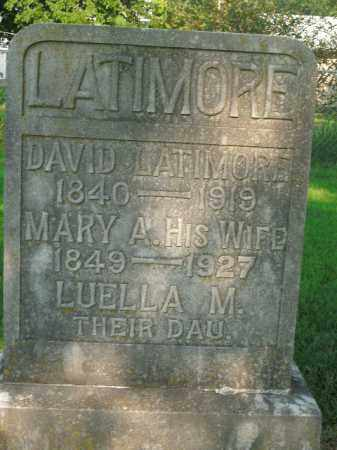 LATIMORE, DAVID - Boone County, Arkansas | DAVID LATIMORE - Arkansas Gravestone Photos