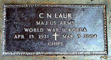 LAUR  (VETERAN 2 WARS), CLIFFORD N. - Boone County, Arkansas   CLIFFORD N. LAUR  (VETERAN 2 WARS) - Arkansas Gravestone Photos