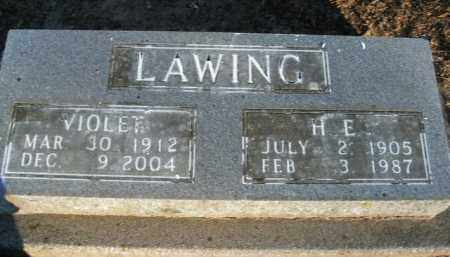 LAWING, H.E. - Boone County, Arkansas | H.E. LAWING - Arkansas Gravestone Photos