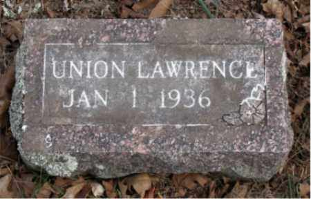 LAWRENCE, UNION - Boone County, Arkansas | UNION LAWRENCE - Arkansas Gravestone Photos