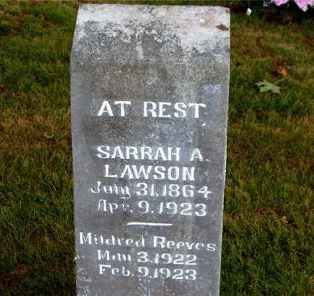 LAWSON, SARRAH A. - Boone County, Arkansas | SARRAH A. LAWSON - Arkansas Gravestone Photos