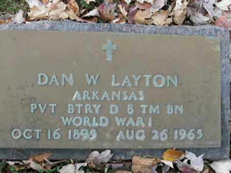 LAYTON  (VETERAN WWI), DAN W - Boone County, Arkansas | DAN W LAYTON  (VETERAN WWI) - Arkansas Gravestone Photos