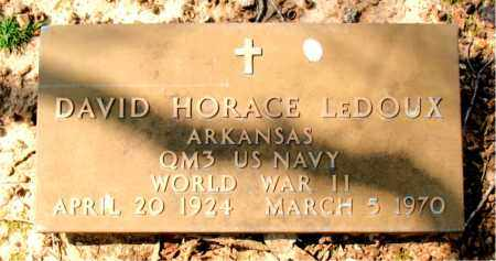 LEDOUX  (VETERAN WWII), DAVID HORACE - Boone County, Arkansas | DAVID HORACE LEDOUX  (VETERAN WWII) - Arkansas Gravestone Photos
