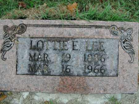 LEE, LOTTIE E. - Boone County, Arkansas   LOTTIE E. LEE - Arkansas Gravestone Photos