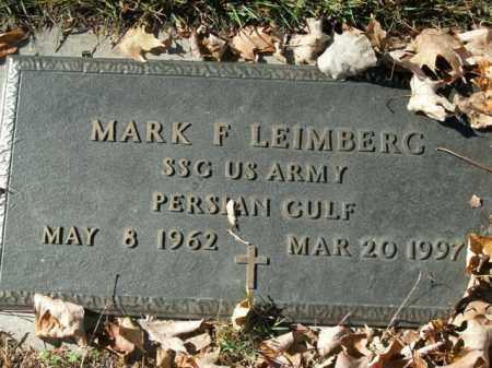 LEIMBERG  (VETERAN PGW), MARK F - Boone County, Arkansas | MARK F LEIMBERG  (VETERAN PGW) - Arkansas Gravestone Photos