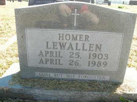 LEWALLEN, HOMER - Boone County, Arkansas | HOMER LEWALLEN - Arkansas Gravestone Photos