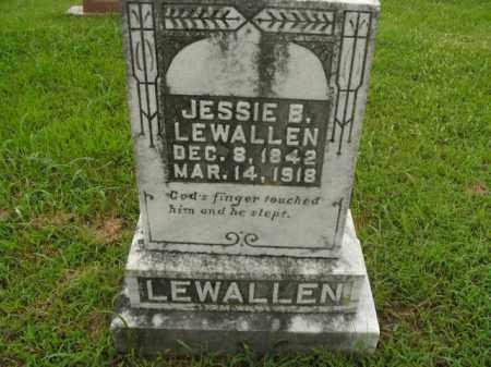 LEWALLEN, JESSIE B. - Boone County, Arkansas   JESSIE B. LEWALLEN - Arkansas Gravestone Photos