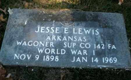 LEWIS  (VETERAN WWI), JESSE E. - Boone County, Arkansas | JESSE E. LEWIS  (VETERAN WWI) - Arkansas Gravestone Photos
