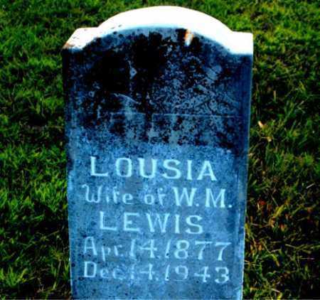 LEWIS, LOUSIA - Boone County, Arkansas | LOUSIA LEWIS - Arkansas Gravestone Photos