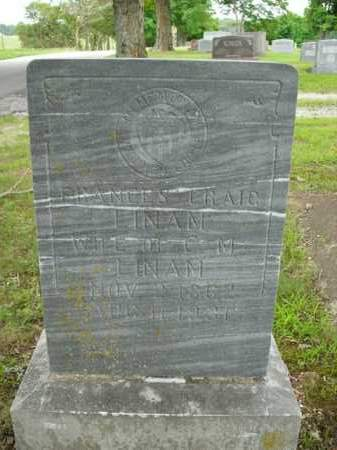 LINAM, FRANCES CRAIG - Boone County, Arkansas | FRANCES CRAIG LINAM - Arkansas Gravestone Photos