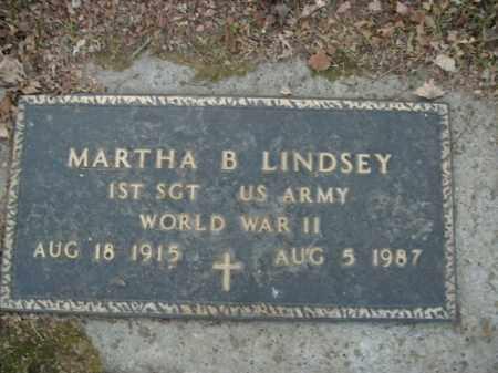 LINDSEY  (VETERAN WWII), MARTHA B - Boone County, Arkansas | MARTHA B LINDSEY  (VETERAN WWII) - Arkansas Gravestone Photos